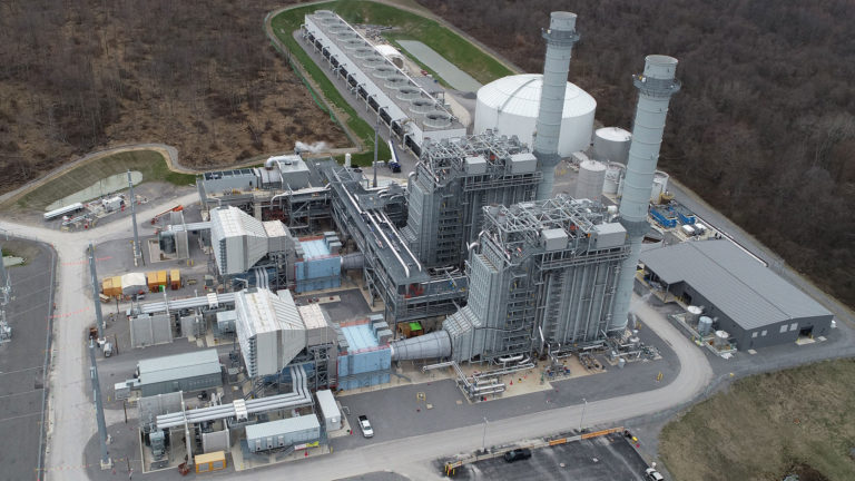 Hickory Run power plant - aerial photo